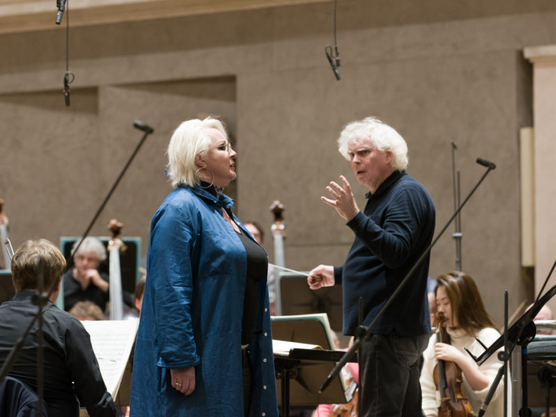 Iréne Theorin & Sir Simon Rattle (c) Peter Meisel