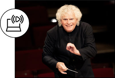 Sir Simon Rattle 2 (C) Astrid Ackermann_Icons (C) heni astutik and unlimicon from Noun Project CC BY 3.0
