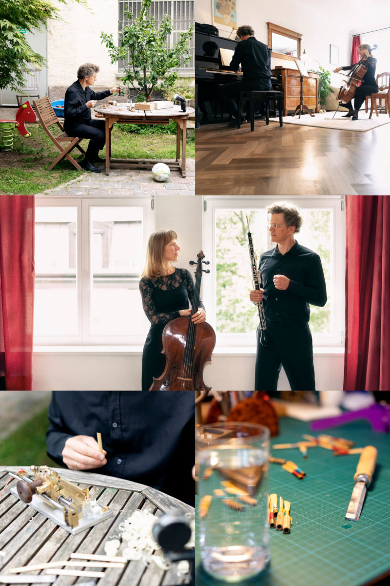 Uta Zenke, Cello, Tobias Vogelmann, Oboe KeepPlaying (c) Astrid Ackermann